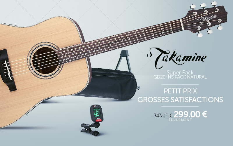 201904 TAKAMINE Super Pack Guitare Folk
