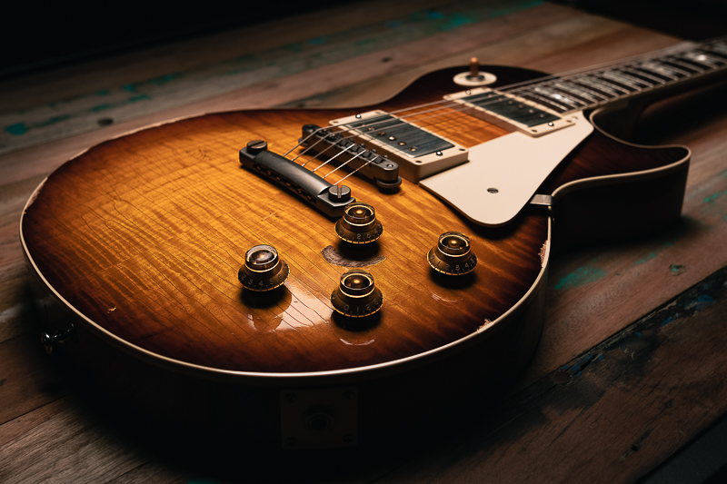guitare électrique gibson les paul custom shop