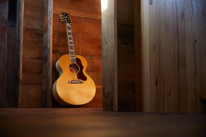 guitare acoustique folk electr acoustique gibson sj 200 jumbo finition naturelle