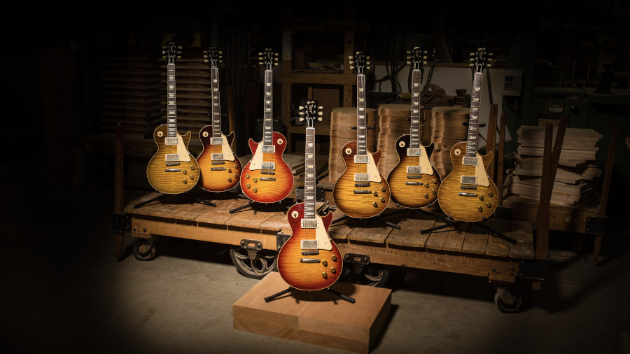 Gibson Les paul Standard, Gibson Guitare électrique, Les Paul 1959 60th Anniversary, Custom Shop