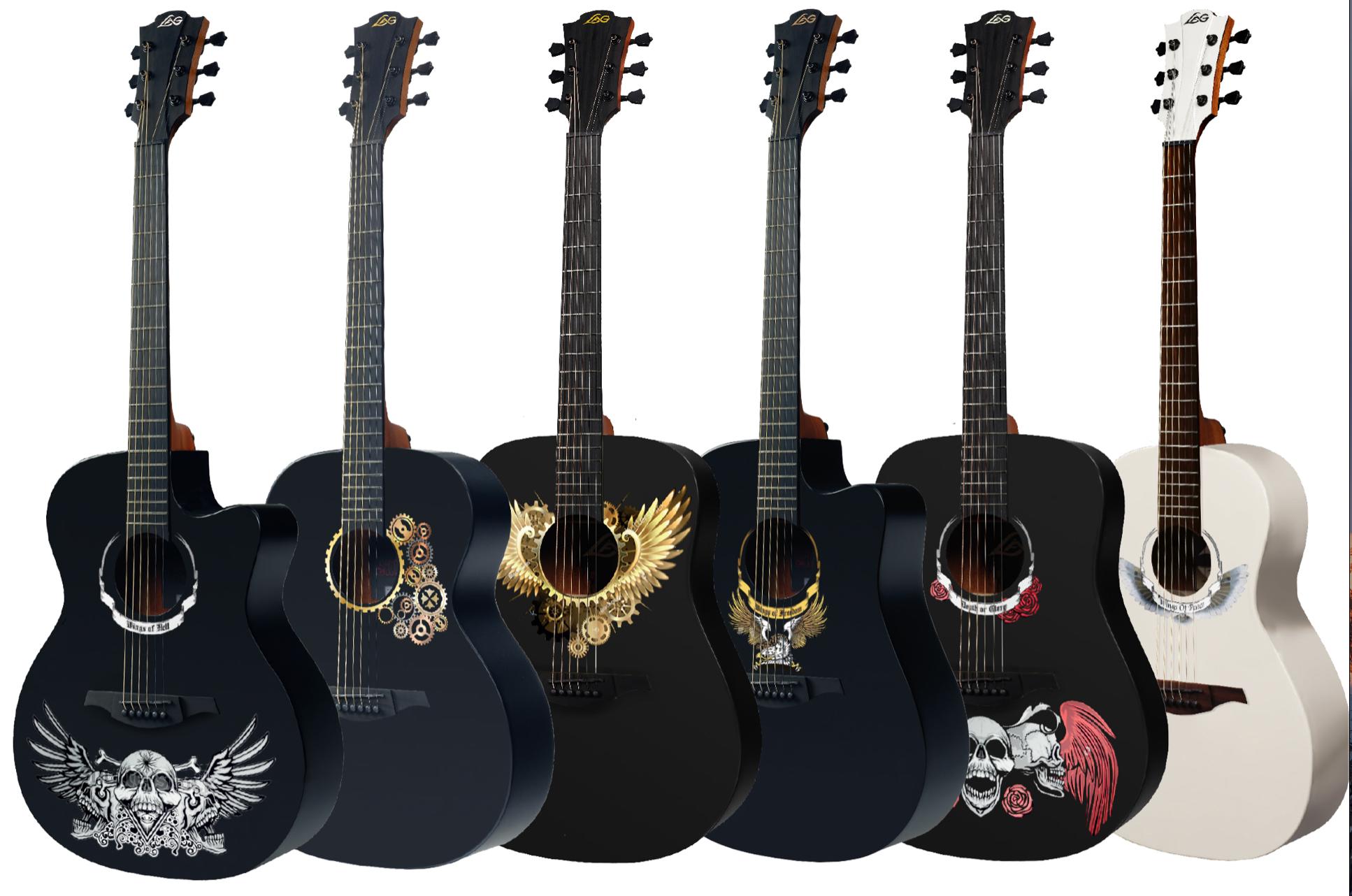 Guitare folk Lag, Guitare acoustique HyVibes Lag, guitare aux cordes nylon Lag