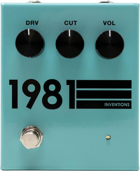 Pédale overdrive / distortion / fuzz 1981 inventions DRV no. 3 Preamp/Distortion - Teal Black