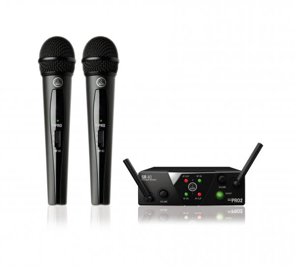 Micro hf main Akg WMS40 Mini2 Dual Vocal Set