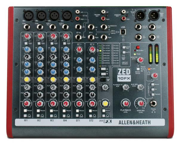Table de mixage analogique Allen & heath ZED-10FX