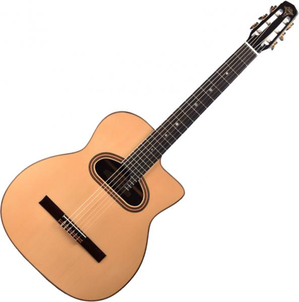 Guitare manouche Altamira Gypsy Jazz M01 Macca CC +Case - Natural