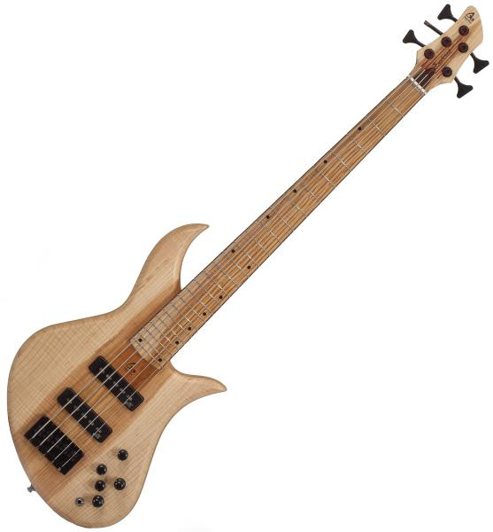 Basse électrique solid body Aquilina Bertone 5 Custom (#021830) - Natural
