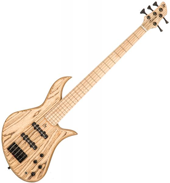 Basse électrique solid body Aquilina Bertone 5 Custom #021931 - Natural satin