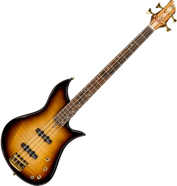 Basse électrique solid body Aquilina Sirius 34 #052048 - Sunburst satin