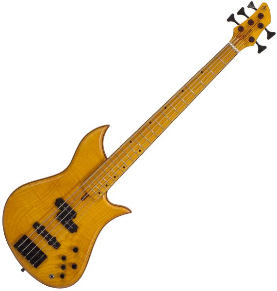 Basse électrique solid body Aquilina Sirius 5 Custom (#51834) - Honey