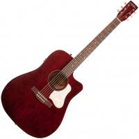Guitare folk Art et lutherie Americana Dreadnought CW QIT - Tennessee red