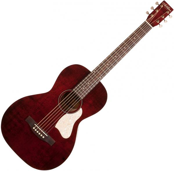 Guitare folk & electro Art et lutherie Roadhouse Parlor A/E +Bag - Tennessee red