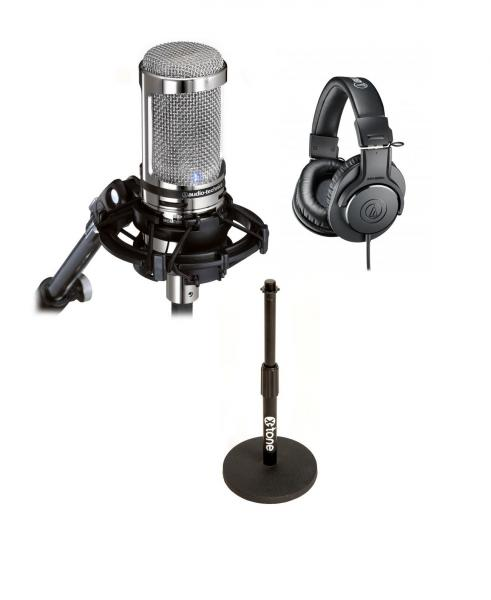 Microphone usb podcast radio Audio technica Pack Podcast(AT2020 UsbV, + Ath-m20x + pied de micro table X-tone)