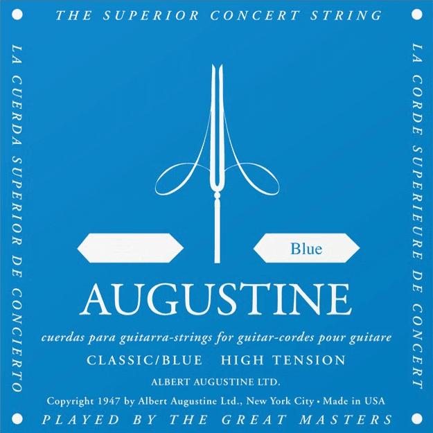 Cordes guitare classique nylon Augustine LA 5 Bleu File ...