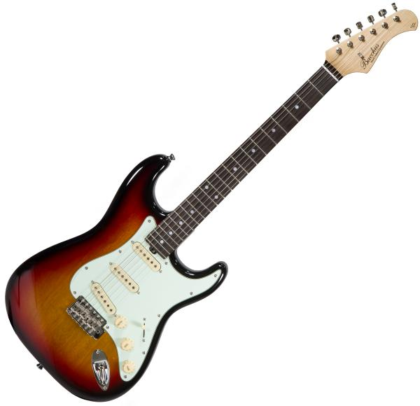 Guitare électrique solid body Bacchus Global BST 650B - 3-tone sunburst