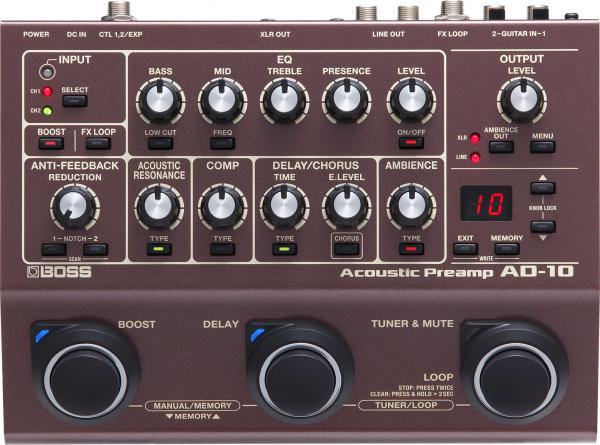Preampli acoustic Boss AD-10