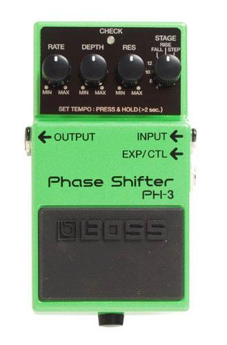 Pédale chorus / flanger / phaser / modul. / trem. Boss PH-3 Phase Shifter - Green