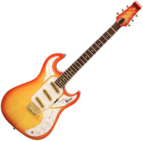 Guitare électrique solid body Burns                          Shadow Special Club - Cherry sunburst