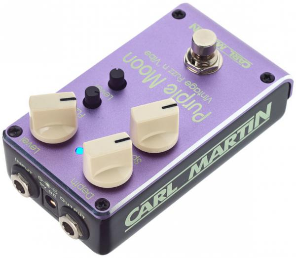 Pédale overdrive / distortion / fuzz Carl martin Purple Moon Fuzz n'Vibe
