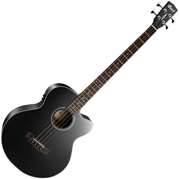 Basse acoustique Cort AB850FB + Housse - Black gloss