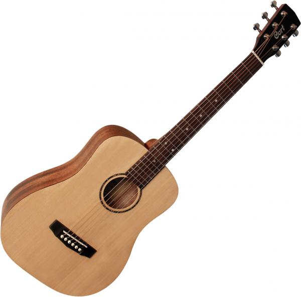 Guitare folk & electro Cort AD Mini OP - Natural open pore