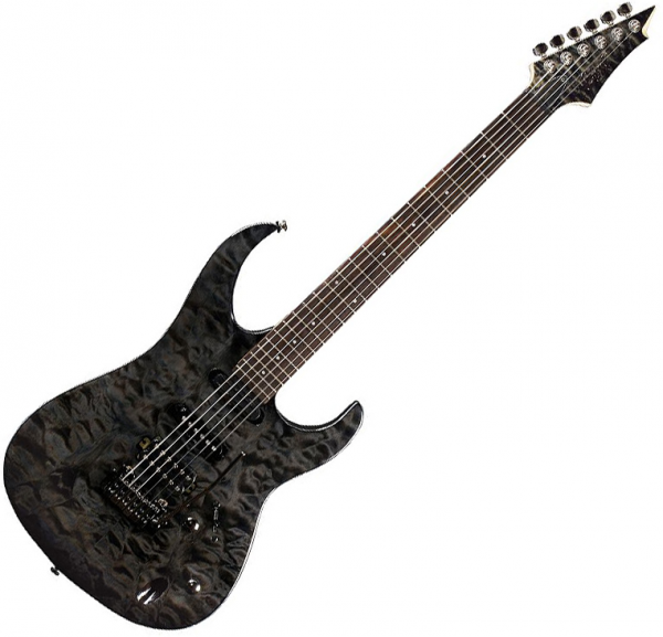 Guitare électrique solid body Cort Aero 11 TCG - Trans charcoal gray wash