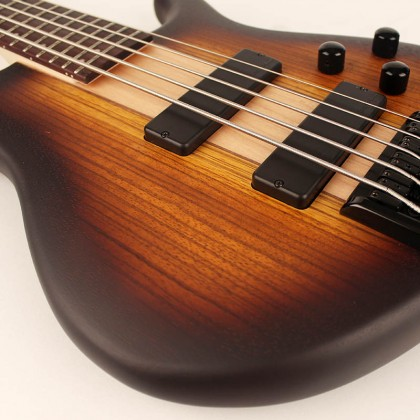 Basse électrique solid body Cort C5 Plus ZBMH Artisan - tobacco burst satin