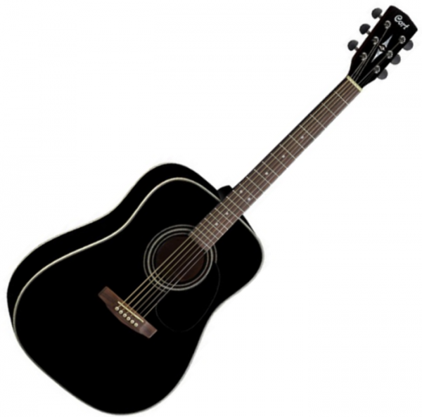 Guitare folk & electro Cort Earth 70 - Black gloss