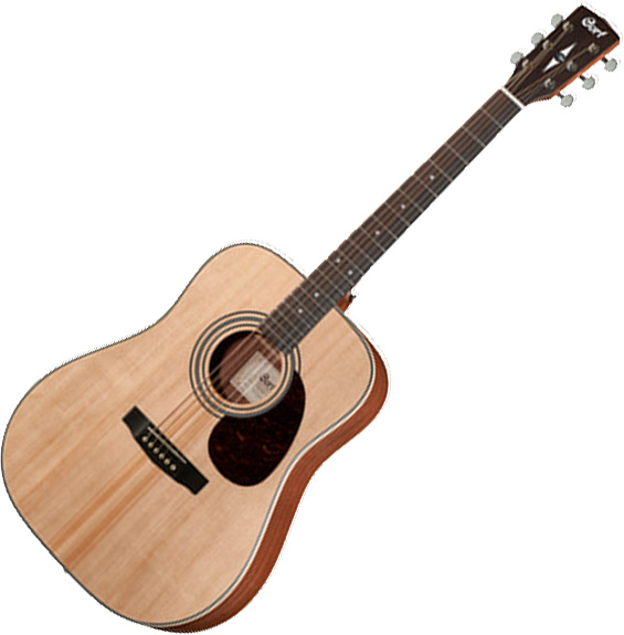 Guitare folk & electro Cort Earth 70 - Natural open pore
