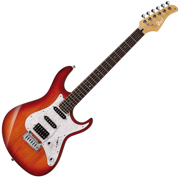 Guitare électrique solid body Cort G250 TAB - Tobacco sunburst