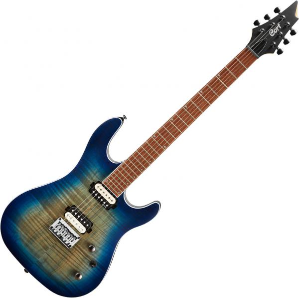 Guitare électrique solid body Cort KX300 - Open pore cobalt burst