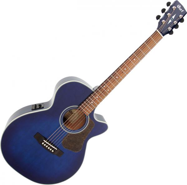 Guitare folk & electro Cort Luce L100F - Transparent blue burst gloss