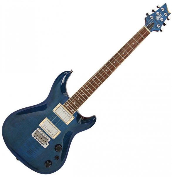 Guitare électrique solid body Cort M-LTD16 ABL - Aqua blue