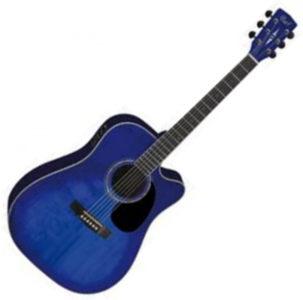 Guitare folk & electro Cort MR710F - Transparent blue burst gloss