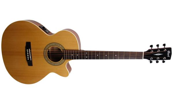 Guitare folk & electro Cort SFX-ME - natural open pore