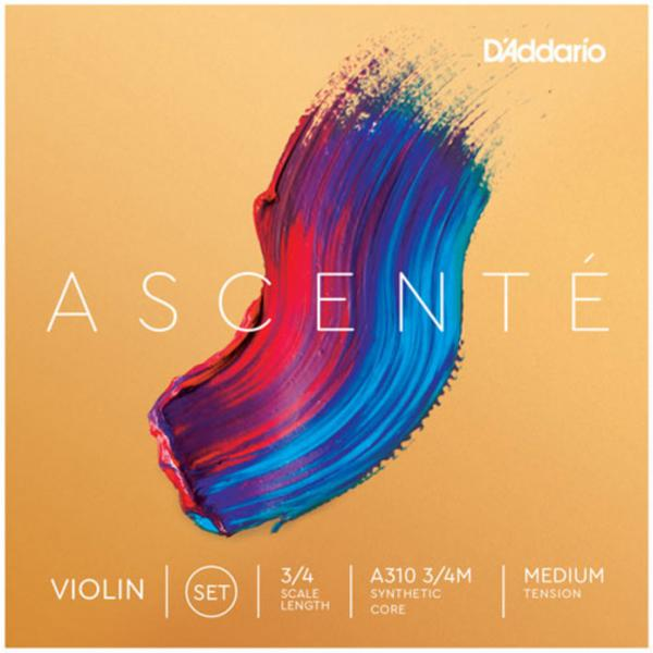 Corde violon D'addario Ascenté Violin A310, 3/4 Scale, Medium Tension