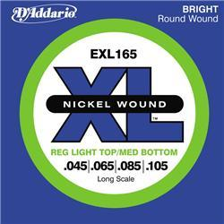 Cordes basse électrique D'addario EXL165 Nickel Wound Electric Bass 45-105 - Jeu de cordes