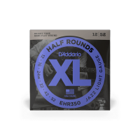 Cordes guitare électrique D'addario EHR350 Electric Half Round Jazz Light 12-52 - Jeu de cordes