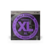 Cordes guitare électrique D'addario EHR370 Electric Half Rounds Medium 11-49 - Jeu de cordes