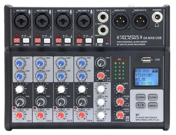 Table de mixage analogique Definitive audio DA MX 6 USB