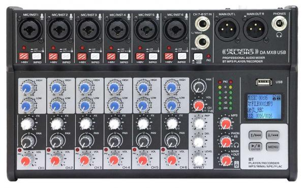 Table de mixage analogique Definitive audio DA MX 8 USB