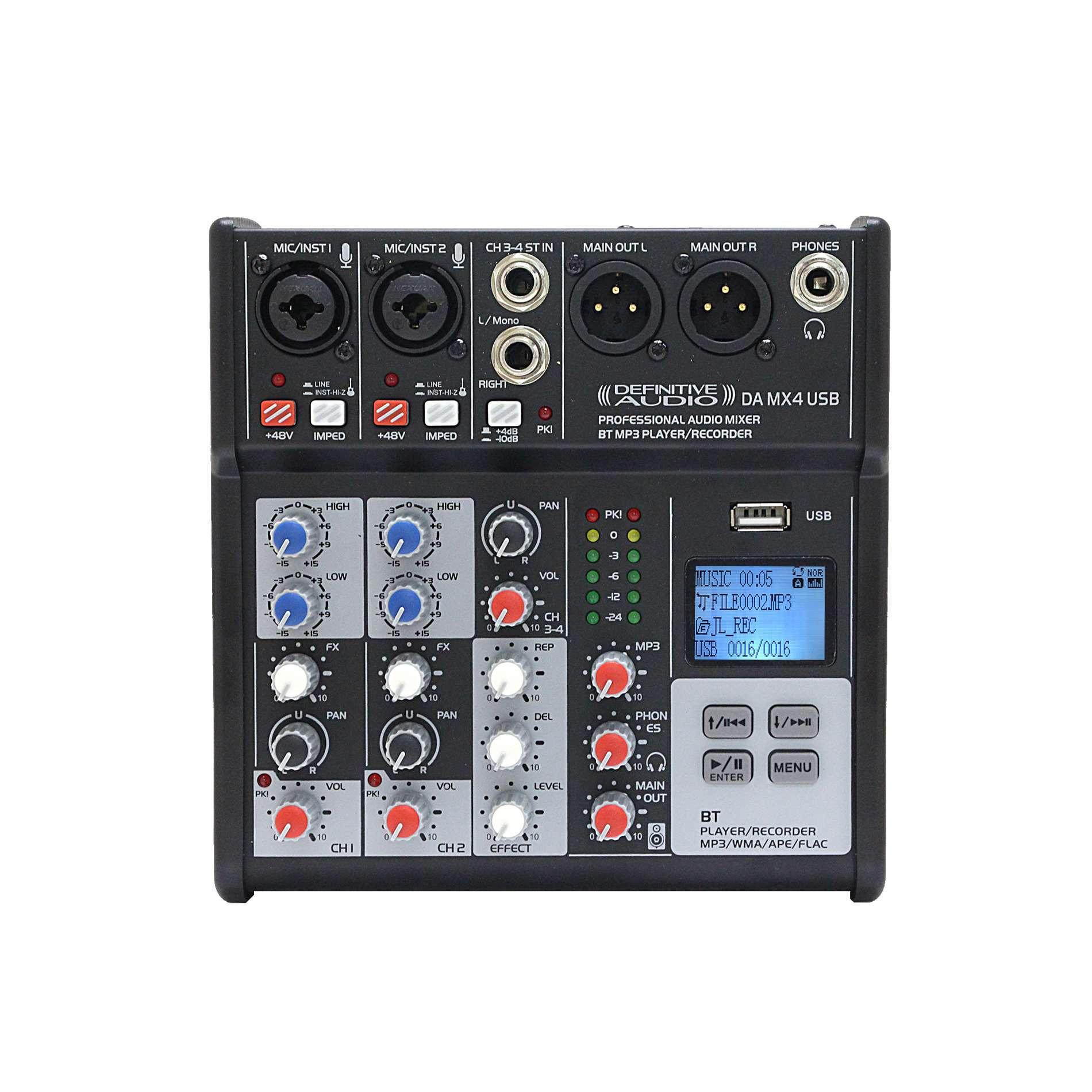 Table De Mixage Analogique Definitive Audio Da Mx4 Usb