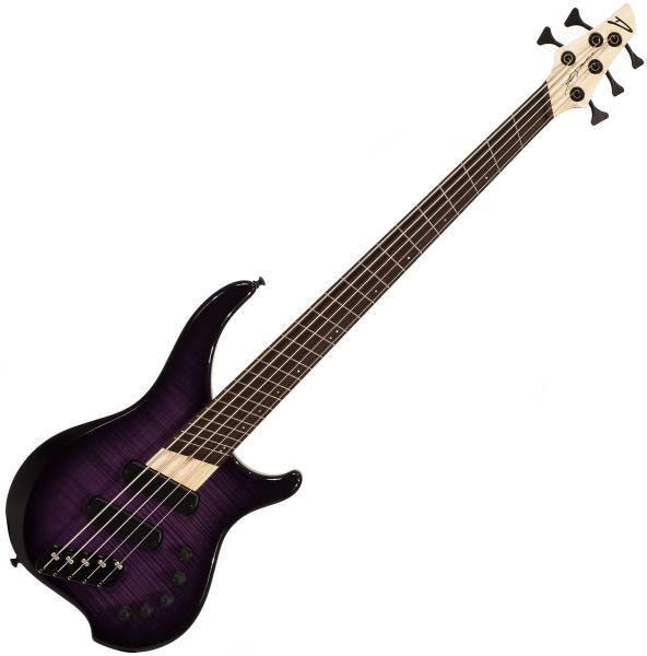 Basse électrique solid body Dingwall Afterburner I 5 2-Pickups (WEN) +Bag - purple blackburst