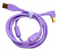 Câble Dj tech tools Chroma Cable USB Purple (angled)