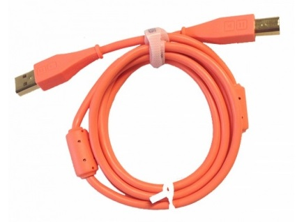 Câble Dj tech tools Chroma Cable USB Droit Neon Orange