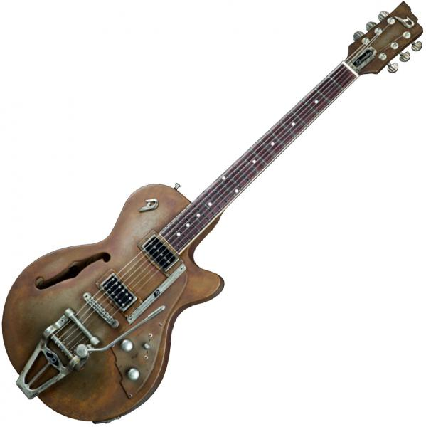 Guitare électrique hollow body Duesenberg Custom Shop Starplayer TV - rusty steel