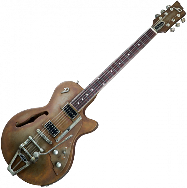 Guitare électrique 1/2 caisse Duesenberg Custom Shop Starplayer TV - Rusty steel