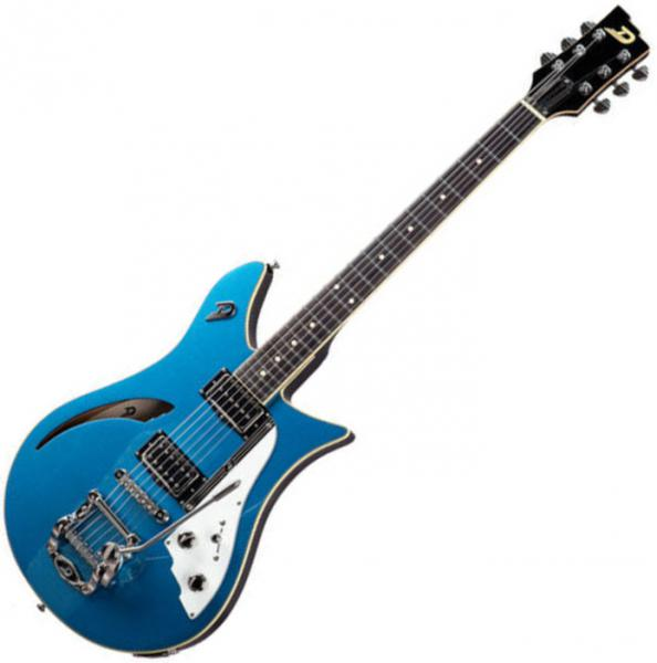 Guitare électrique 1/2 caisse Duesenberg Double Cat - Catalina blue