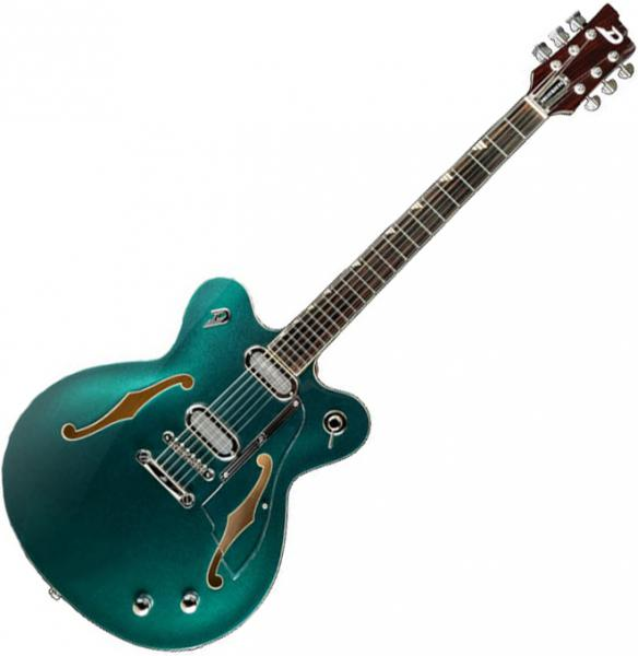Guitare électrique 1/2 caisse Duesenberg Gran Majesto - Catalina green