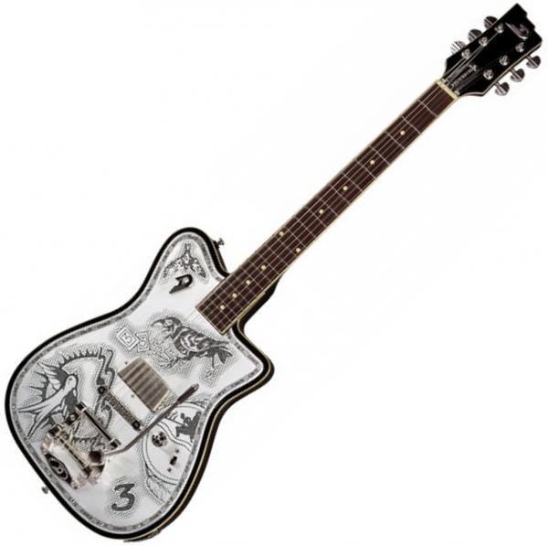 Guitare électrique solid body Duesenberg Johnny Depp Alliance - Aluminium plate
