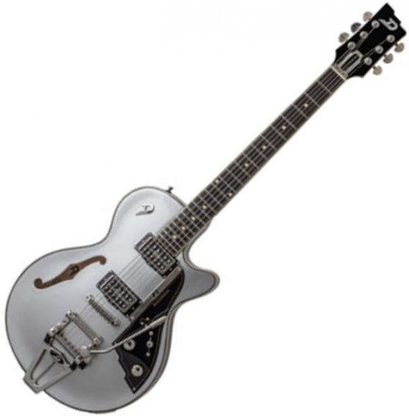 Guitare électrique 1/2 caisse Duesenberg Starplayer TV 25Th Anniversary Ltd - metallic silver